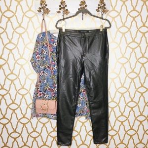 NWT Ashley Mason Black Faux Leather Skinny Pants